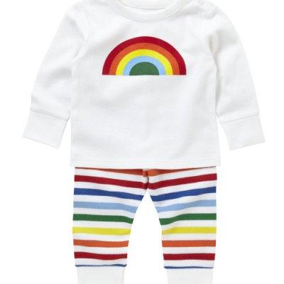 Hot on the high street: Little Bird rainbow pyjamas