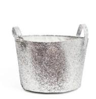 glittery storage basket by H&M