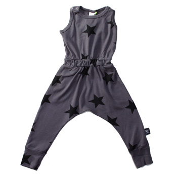 nununu-grey star playsuit