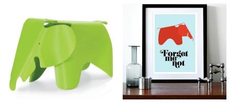 Eames Elephant and Yumalum Print