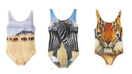 Photo print horse or tiger or zebra swimsuit