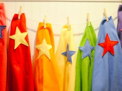 Make Your Own: Easy sew / no sew superhero capes