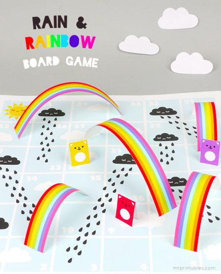 Rain & Rainbow Board Game (variation of Snakes & Ladders)