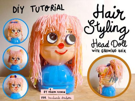 Make Your Own: hair styling head doll by Handmade Charlotte