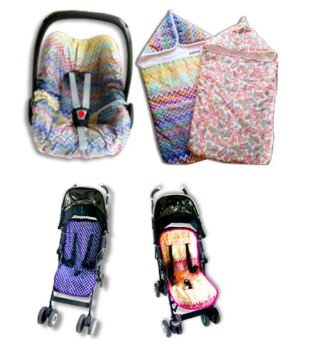 Livyluloo seat liners for Maclaren pushchairs, Maxi cosi pebble car seats and universeal seat liners