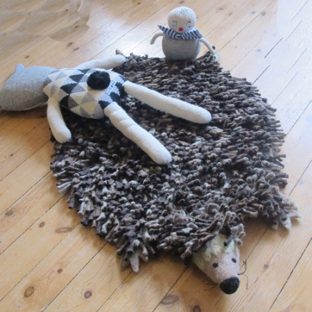 Herby Hedgehog Rug by Sew Heart Felt.