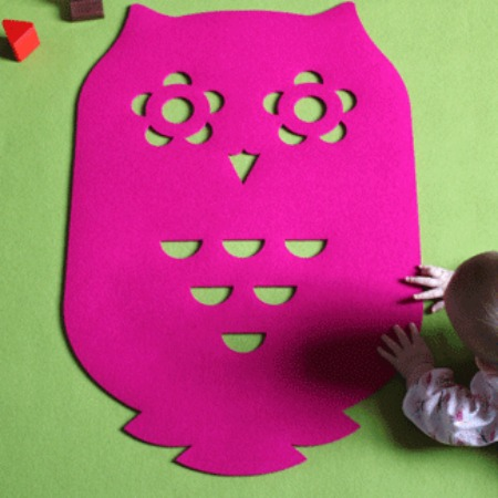 Felt Owl Rug featured on Bambino Goodies
