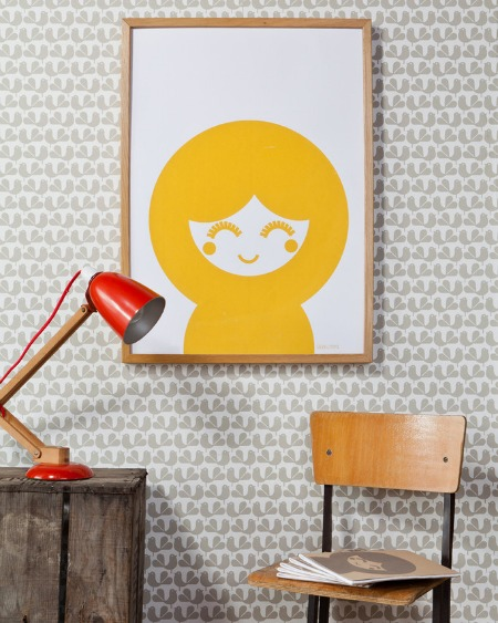 Yoko Screen Print in Yellow