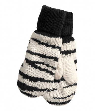 H&M zebra print mittens
