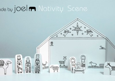 Free Printable: Paper City Nativity Scene by Made By Joel