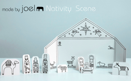 Paper Play City Nativity Scene by Made By Joel