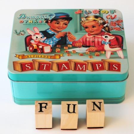Alphabet Wooden Stamps