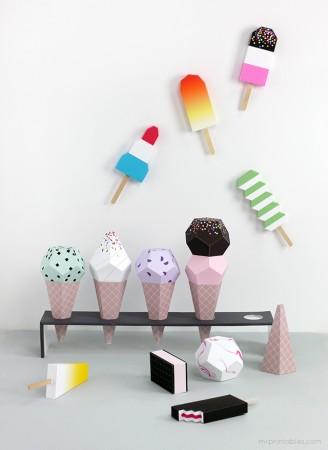 Printable ice creams