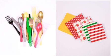 Little Lulubel party cutlery and napkins