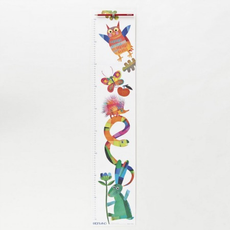 Wooden Metric Height Poster