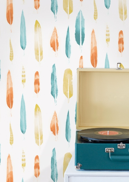 Mini Moderns Feathers wallpaper