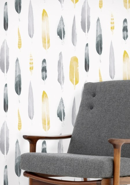 Mini Moderns 'Feathers' wallpaper with Matt Sewell