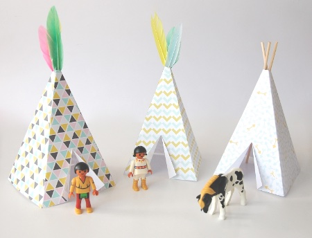 Make your own paper teepee for Playmobil figures by Pom Imagine Your World Blog