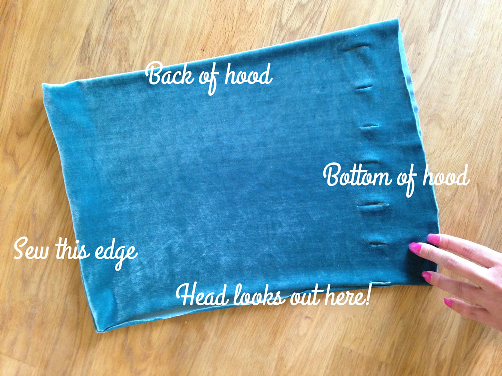 Easy No Sew Hooded Cape