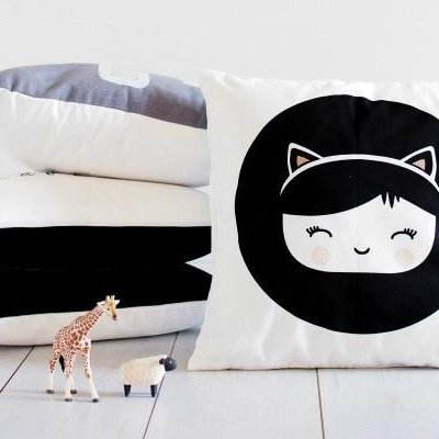 Wanted: Little Miss Meow Cushion