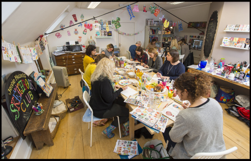 BNPS.co.uk (01202 558833) Pic: PhilYeomans/BNPS G2 - Kate Carter(writer) is doing an all day workshop at the SketchbookClub near Romsey in Hants. SketchbookClub was set up by Jennie Maizels, who is an illustrator/maker of fabulous kids stuff.