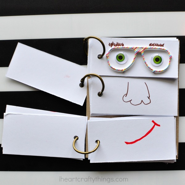 HOW TO MAKE A DIY FUNNY FACE FLIP BOOK