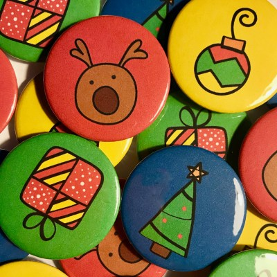 Stocking Filler: Colour Pop Christmas Badges