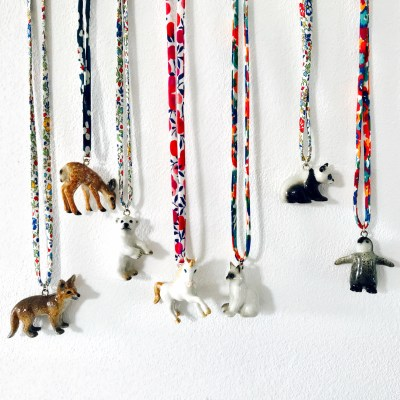 Ceramic Animal Necklace with Liberty Cord