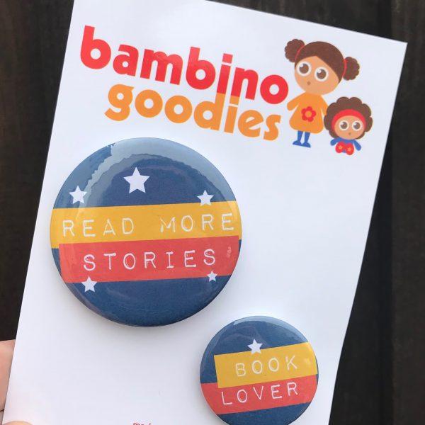 Book Lover badge set