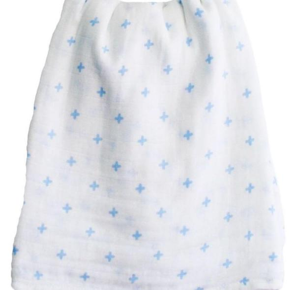 blue crosses muslin wrap CU