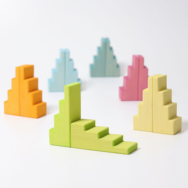 roof pastel Grimms stepped blocks
