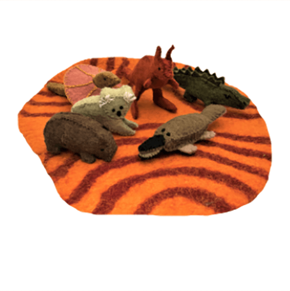 auusie animals on mat by papoose felt