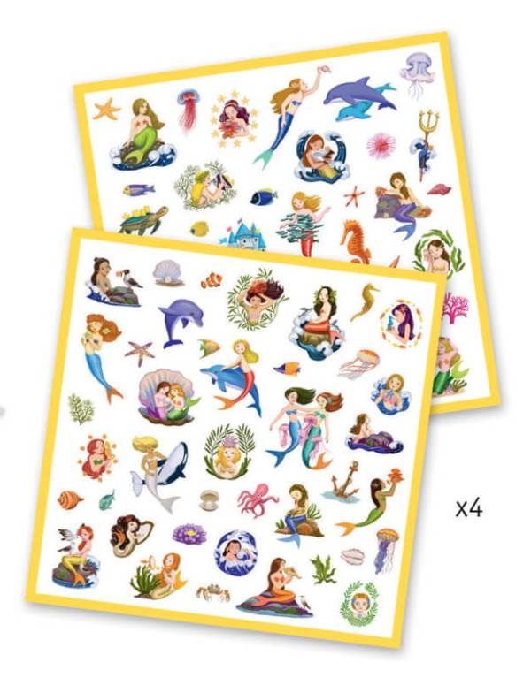 mermaid stickers by djeco