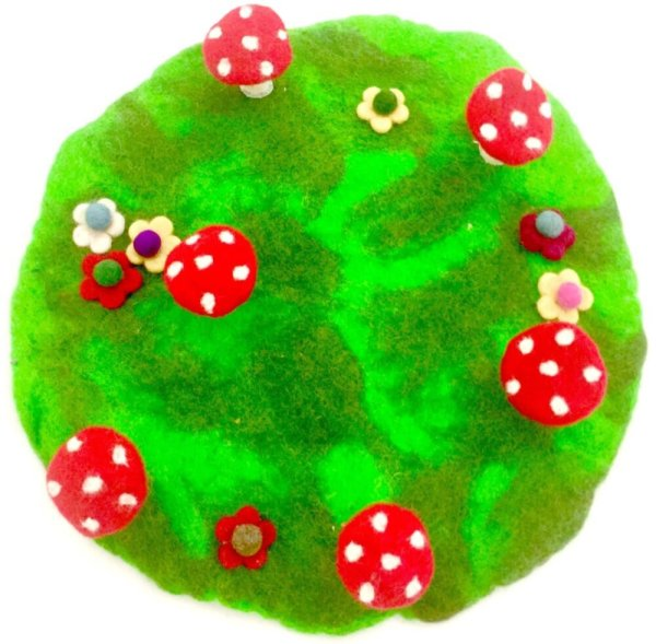 fairy ring and toadstool mat
