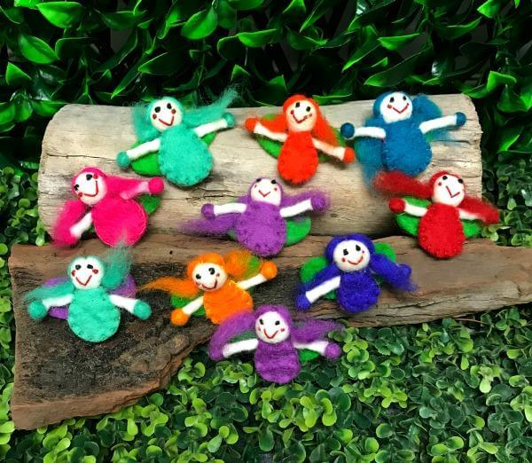 tiny felt fairies