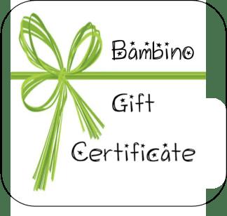 gift certificate 11bambino