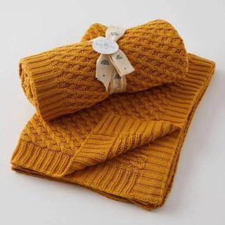 nordic kids honey weave baby blanket