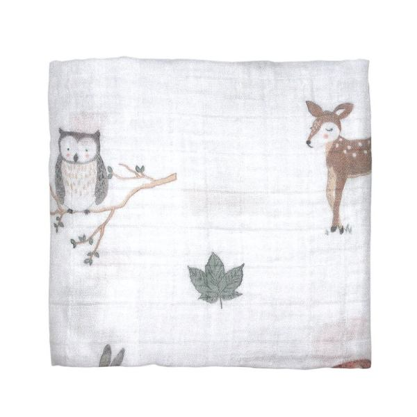 woodland and fox muslin swaddle wrap mister fly
