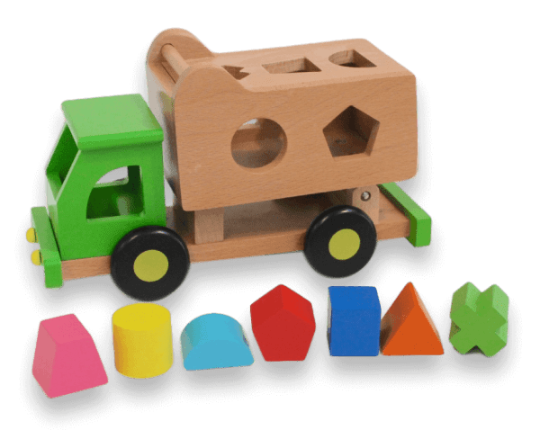 garbage truck with shape sorting
