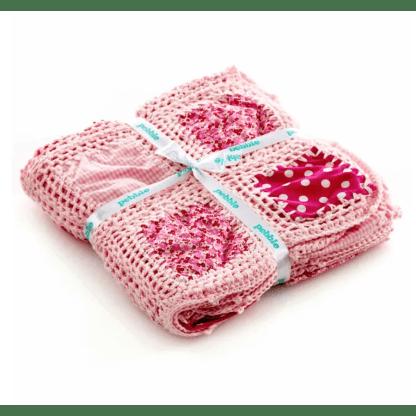 pebble crochet blanket pink