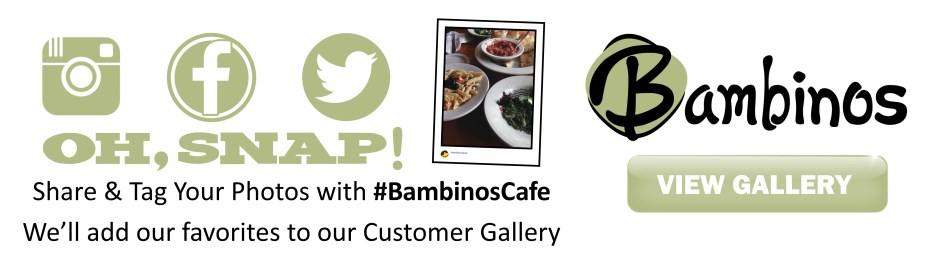 Bambinos Cafe Menu