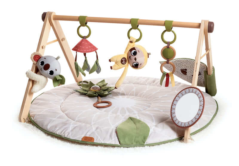 tapis d eveil ultra confort et arche en bois boho chic
