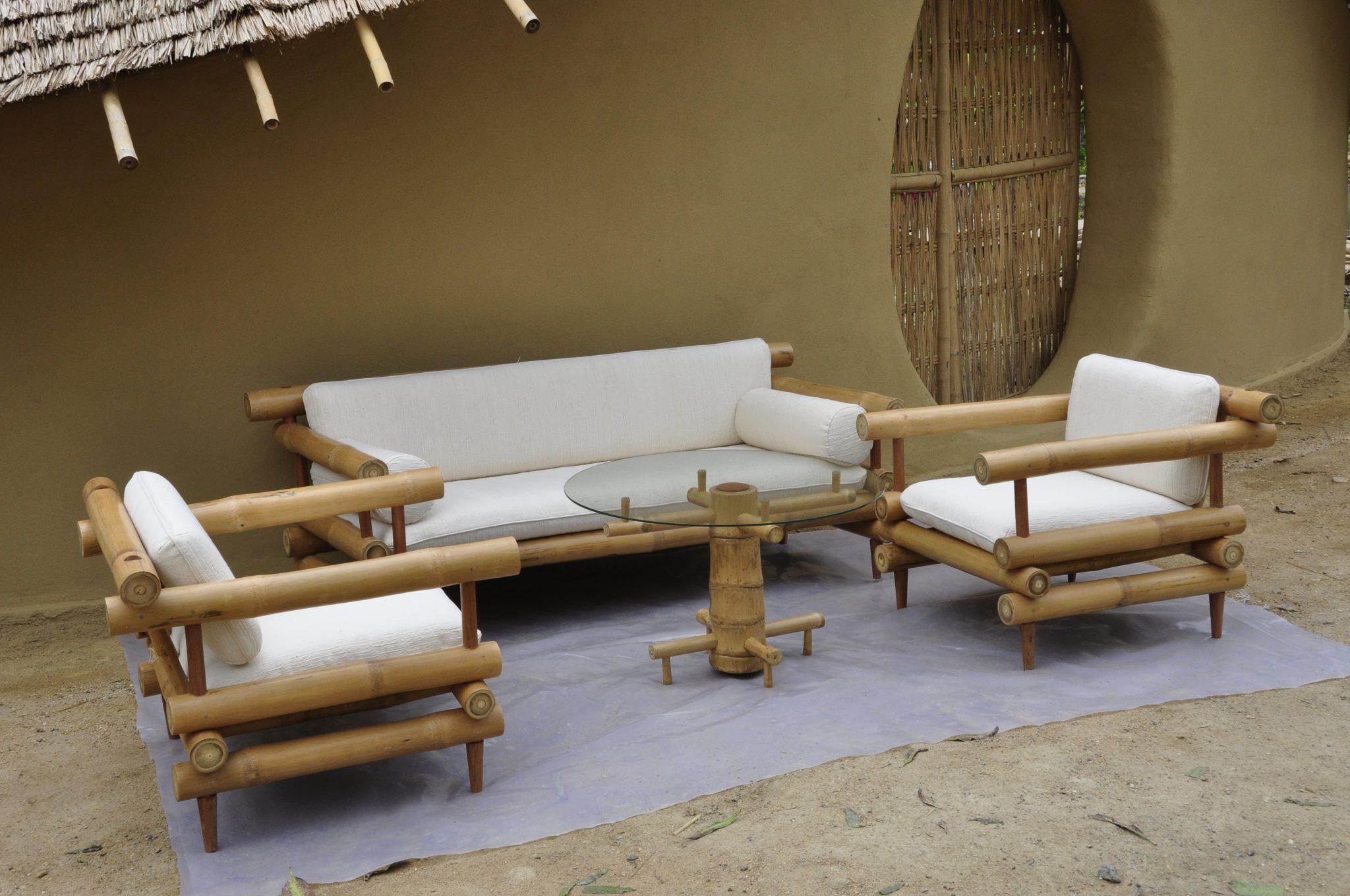 Bamboo Sofa Set 1 Bamboo Earth Architecture