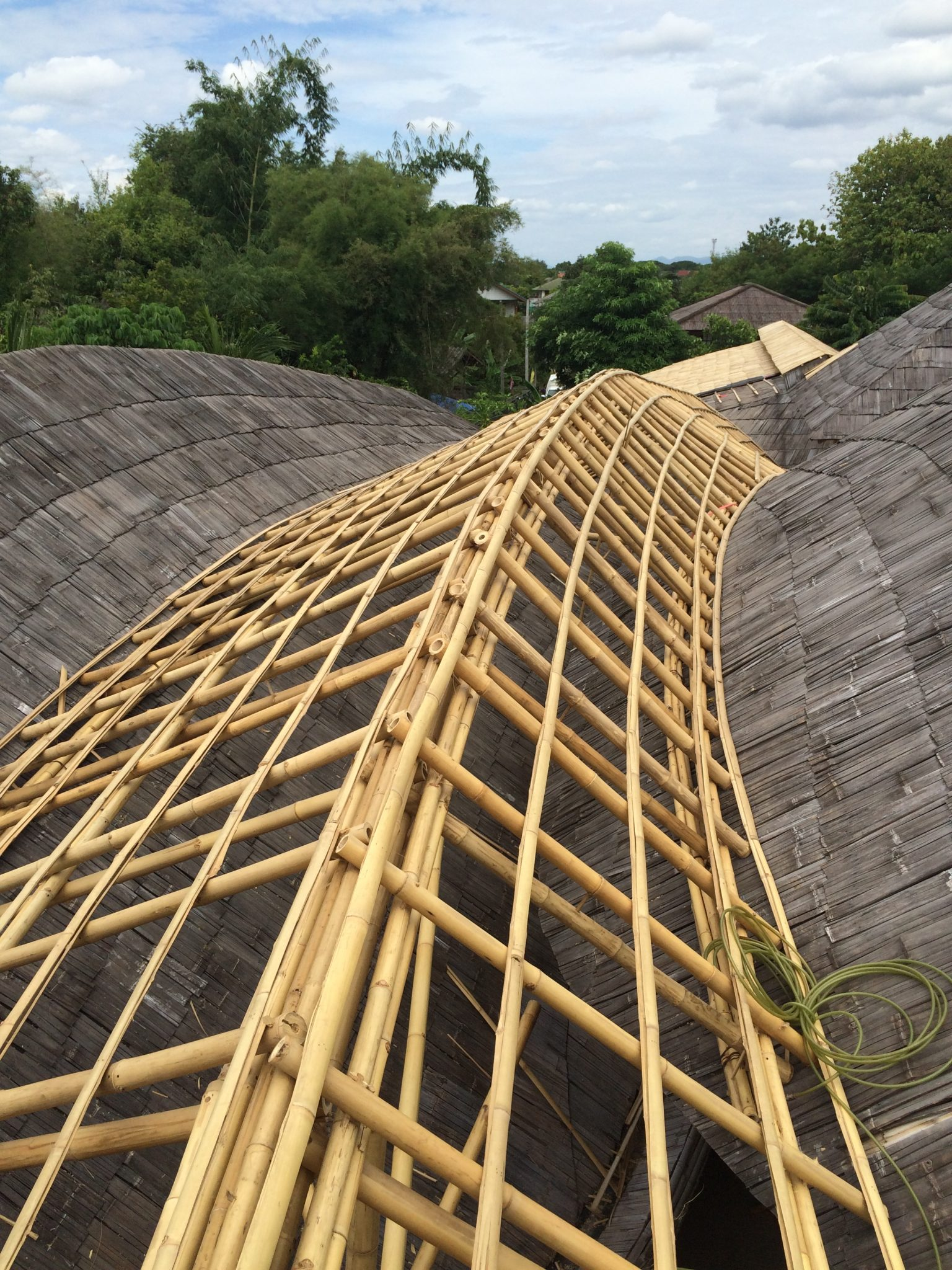 Bamboo roof private residence in Lampang  Chiangmai Life Construction