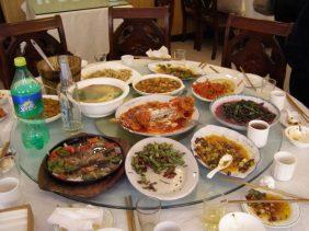 China Essen am runden Tisch