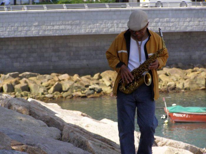 Saxophon-Spieler in Stanley