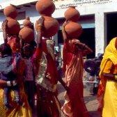 Frauen in Indien Barathpur
