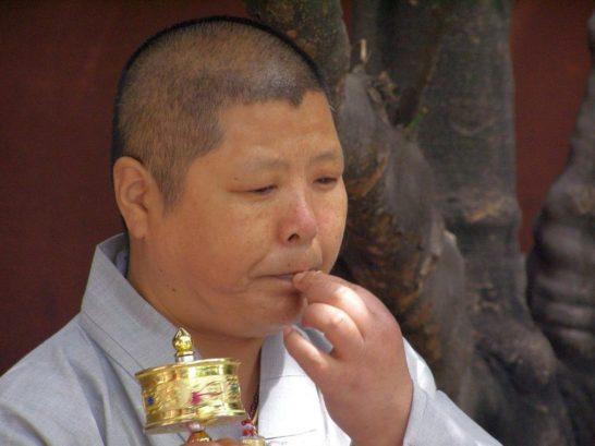 Wenshu Tempel Nonne