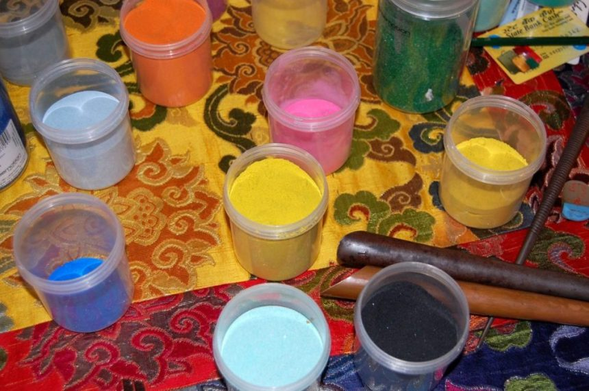 Farben für das Sandmala