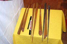 Sandmandala Werkzeuge
